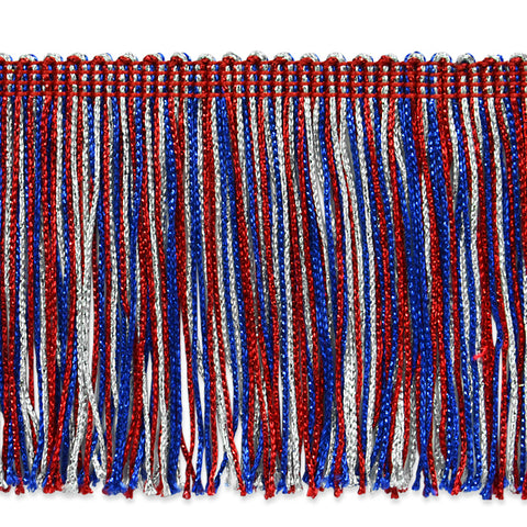 "4"" Red White & Blue Metallic Fringe"