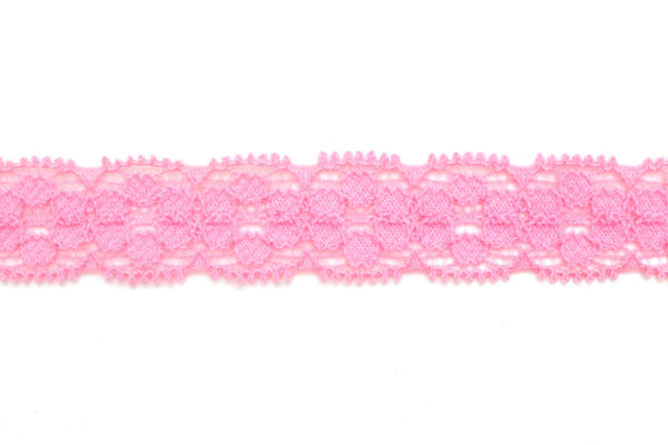 "5/8"" Stretch Lace - Pink"