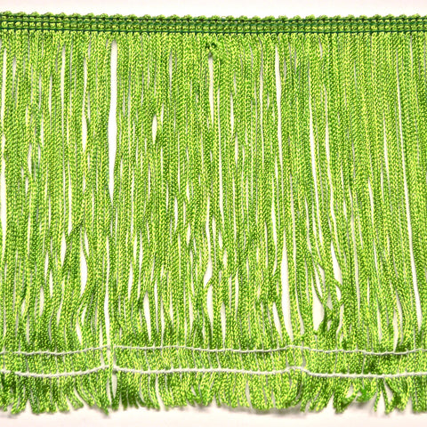 "6"" Apple Green Stretch Chainette Fringe"