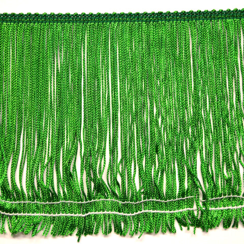 "6"" Kelly Green Stretch Chainette Fringe"