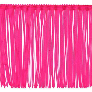 "6"" Fluorescent Pink Chainette Fringe"