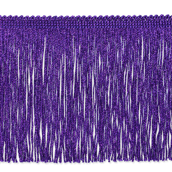 "6"" Purple Metallic Fringe"