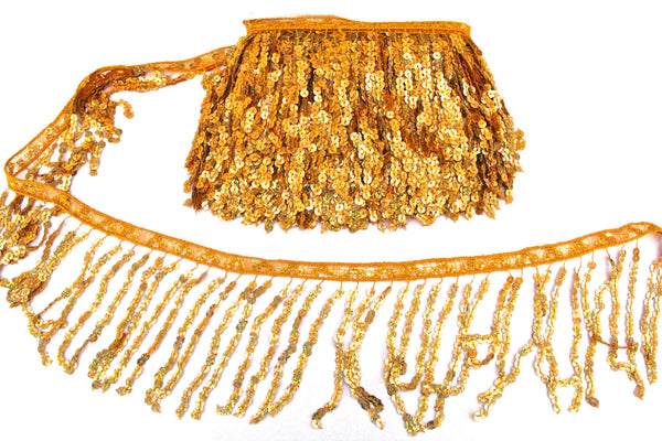 "6"" Gold Holographic Sequin Fringe"