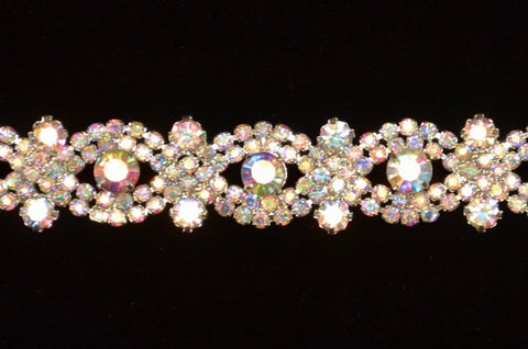 Crystal A.B. Rhinestone Trim Set In Metal