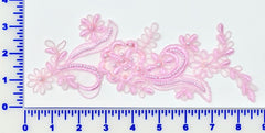 Pink Pair Appliqués With Sequins And Beads