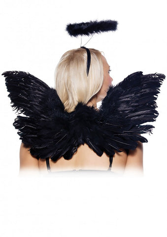 2 Piece Angel Accessory Kit - Black