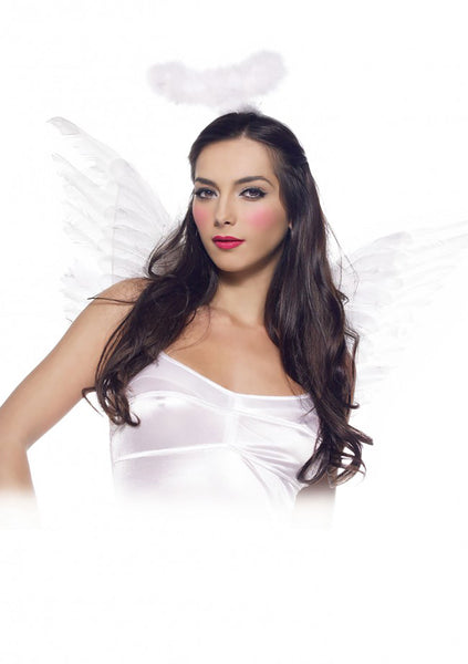 2 Piece Angel Accessory Kit - White