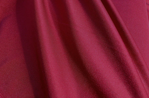 Beet Red Shiny Tricot Nylon Spandex