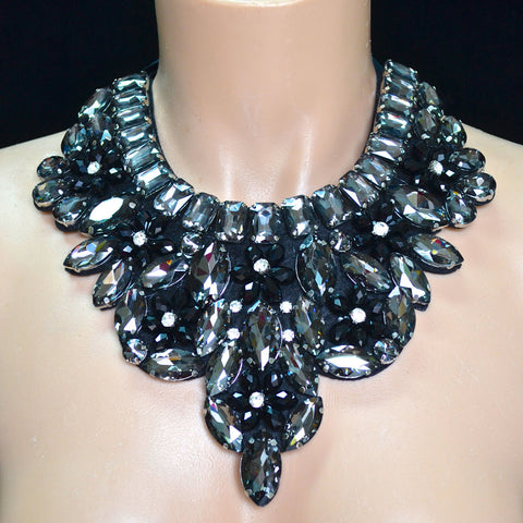 Black Rhinestone Neck Piece