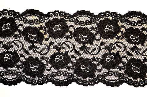 "5 1/2"" Stretch Lace - Black"