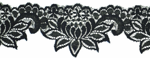 "3"" Stretch Lace - Black"