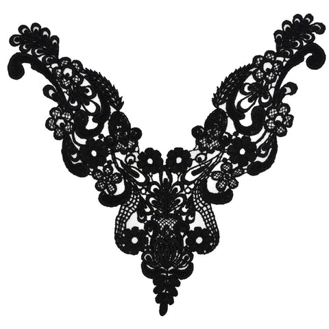Black Venise Lace Appliqué