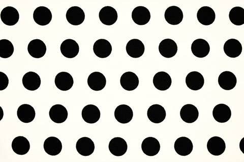 Black Polka Dots On White Nylon Spandex