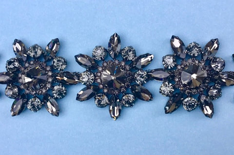 Black Diamond Rhinestone Trim