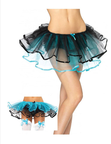 Reversible Ribbon Trimmed Tutu - Black/Blue