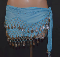 Sash Skirt With Silver Coins - 11 Colors Available