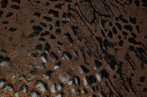Animal Print on Brown Poly Spandex- CLOSEOUT