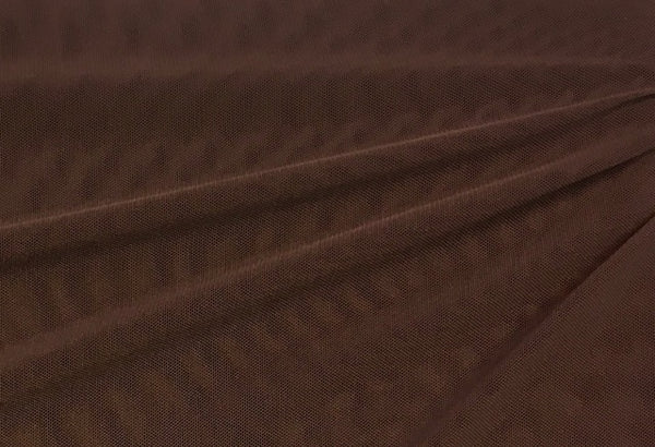 Brown Nylon Spandex Stretch Mesh