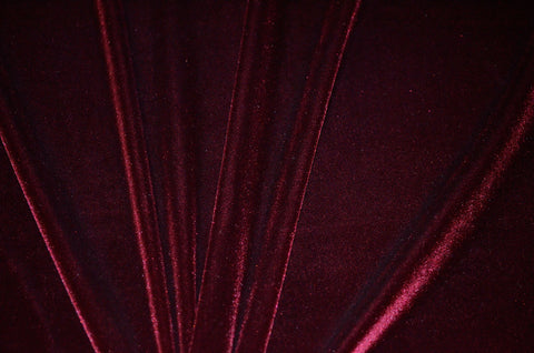 Burgundy Stretch Velvet