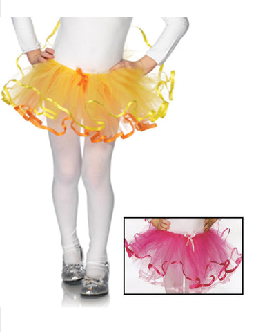 Children's Reversible Ribbon Trimmed Tutu - 2 Colors Available