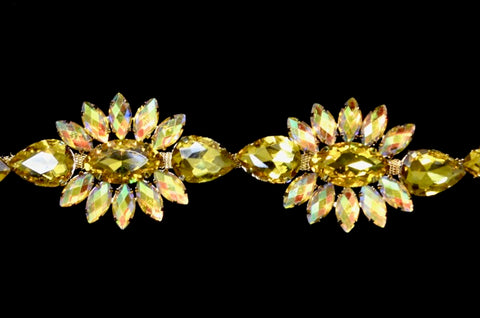 Yellow Rhinestone Trim