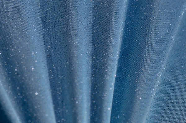 Colonial Blue Glitter Sheer