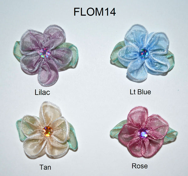 1 1/4 Ombre Rosette - 4 Colors Available - 12 Pack