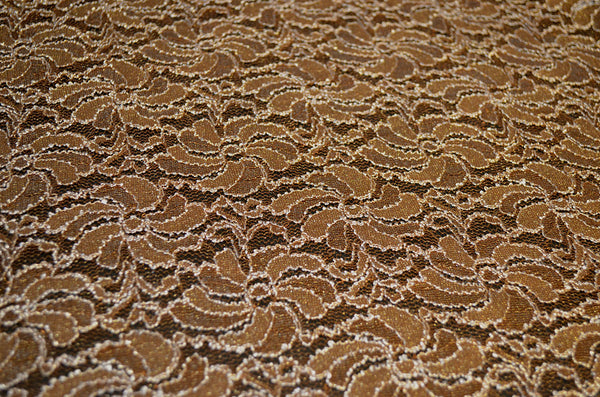 Copper Metallic 2-Way Stretch Lace