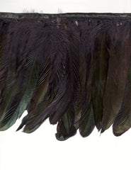 "6"" to 8"" Natural Iridescent Black Coque Feather Fringe"