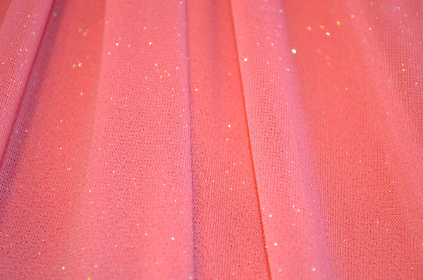 Coral Glitter Sheer