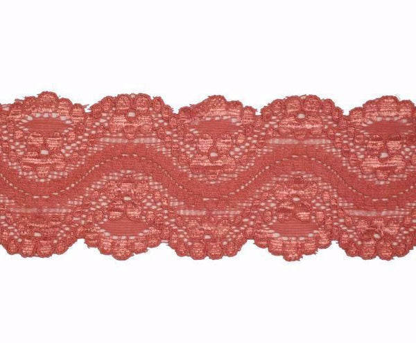 "2"" Stretch Lace - Coral"
