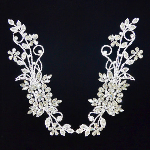 Crystal Rhinestone Appliqué Pair
