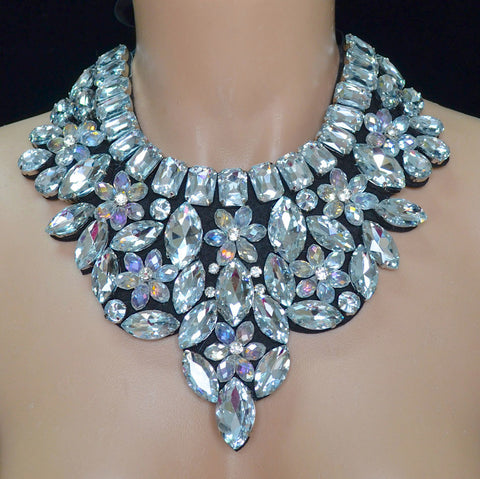 Crystal Rhinestone Neck Piece