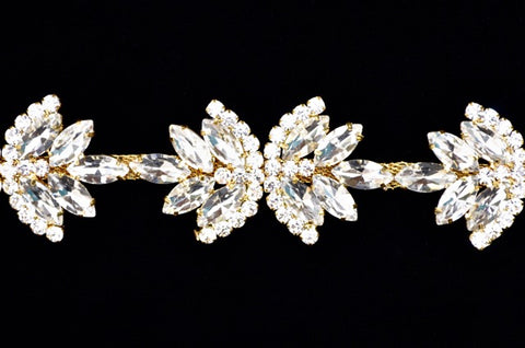 Crystal/ Gold Rhinestone Trim