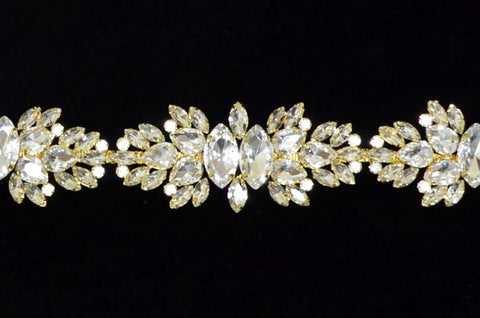 Crystal Gold Rhinestone Trim