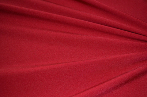 Dark Red Shiny Tricot Nylon Spandex