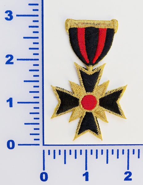 Embroidered Military Medal Appliqué