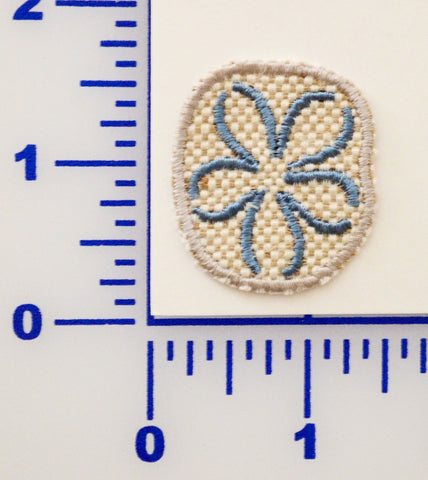 Embroidered Sand Dollar Appliqué