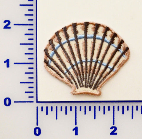 Embroidered Sea Shells Appliqué