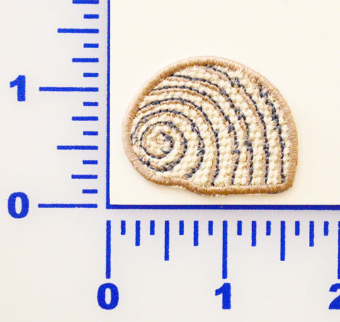 Embroidered Sea Snail Appliqué