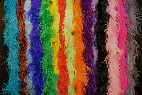 2 Ply Ostrich Boa - 15 Colors Available