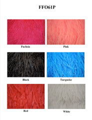 "6"" 1 Ply Ostrich Fringe - 10 Colors Available"