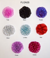 "3 1/2"" Metallic Rose - 7 Colors Available - Individual or 6 Packs"