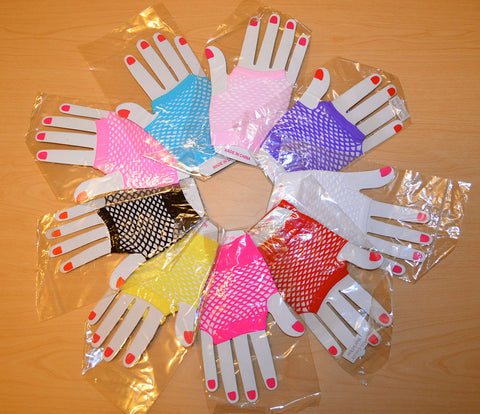 Fishnet Fingerless Wrist Gloves - 9 Colors Available