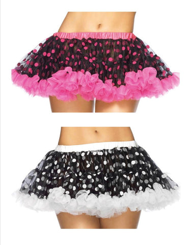 Flocked Polkadot Mini Petticoat - Available In 3 Colors