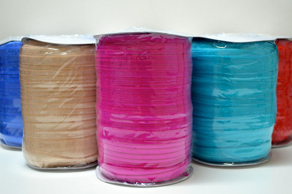 "3/4"" Fold Over Elastic by the Roll - 33 Colors Available"