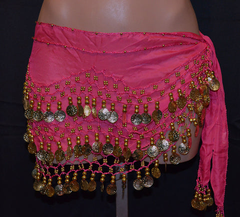 Sash Skirt With Gold Coins - 14 Colors Available