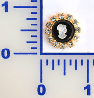 20MM Gold Cameo Button - Individual or 12 Pack