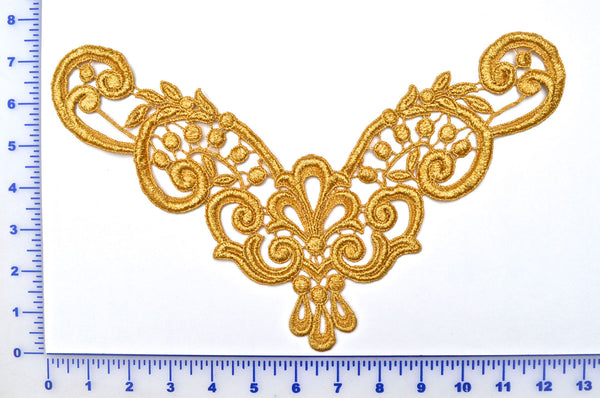 Gold Metallic Venise Lace Appliqué
