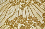 Gold Sequin Pattern on Cream Mesh- CLOSE OUT